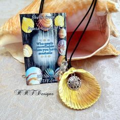 Seashell Necklace with Sand dollar Charm ~Shells from Punta Gorda, Florida by…