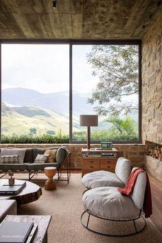 Country Modern Home, Sala Grande, Vintage Interiors, Midcentury Modern, Rustic Decor, Sweet Home, House Design, Interior Design, Architecture