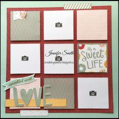 It's A Sweet Life: Close To My Heart Sugar Rush Single Page Scrapbook Layout Baby Scrapbook Pages, Project Life Scrapbook, Wedding Scrapbook, Scrapbook Sketches, Scrapbook Page Layouts, Card Sketches, Scrapbook Albums, Scrapbook Cards, Scrapbooking Ideas