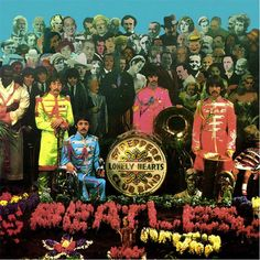 The Beatles-Sgt. Pepper's Alternate Print Beatles Prints – Gerahmte Leinwand Wandbilder Ringo Starr, George Harrison, John Lennon, Beatles Album Covers, Beatles Albums, Paul Mccartney, Sgt Pepper Cover, The Beatles, Beatles Art