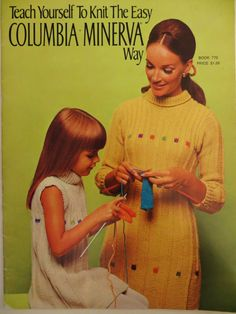 Vintage 60s Columbia Minerva Knitting Pattern Book 770, Teach Yourself to Knit, Hats, Dog Coat, Mittens Gloves, Baby, Sweaters, Suit, Afghan by CatBazaar on Etsy