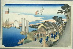 Hiroshige - The Fifty-three Stations of the Tōkaidō 1st station : Shinagawa.