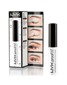 NYX Professional Makeup Proof It! Waterproof Eyebrow Primer - A waterproof eyebrow primer to seal eyebrow makeup Waterproof Eyeshadow, Waterproof Eyebrow, Eyeshadow Primer, Eyeshadow Palette, Eye Primer, Makeup Tips For Blue Eyes, Love Makeup, Makeup Ideas, Shopping