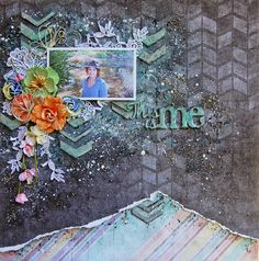"'This is Me"" layout by Marilyn Rivera for 2 Crafty Chipboard    - Wendy Schultz ~ Scrapbook Pages 3."