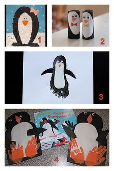 Another penguin craft. I sense a penguin book study coming on... Having Fun at Home: Preschool Penguin Crafts