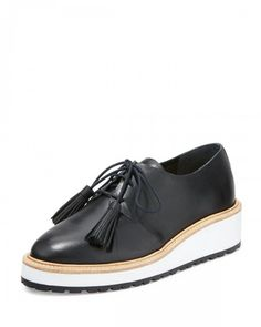 Loeffler+Randall+Callie+Leather+Lace+Up+Sneakers+Black+Women's+39+0b+9+0b+|+Shoes+and+Footwear