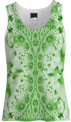 Green on Green Lace Tank Top from Print All Over Me