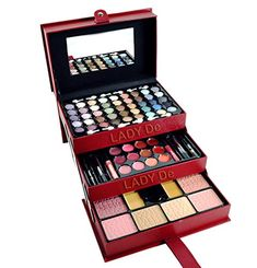 Lady De 65Color 3 Tray Eye Shadow Professional Leather Train Case MakeUp Kit Set BY CAMEO >>> Learn more by visiting the image link.