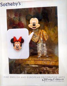 """Da série """"Sotheby's"""", de Nelson Leiner: colagens sobre os catálogos, da emblemática  casa de leilão. Cada capa mais bacana que a outra!"""