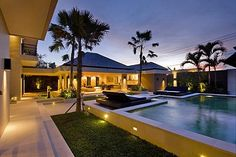 This beautiful luxury holiday villa is located in popular Canggu, and surrounded by magnificent green rice fields. #bali #villa