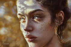 Girl, Maka Zedelashvili on ArtStation at https://www.artstation.com/artwork/LJAxw