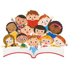 Illustration of Reading children vector art, clipart and stock vectors. Childrens Desk, Kids Background, Cute Cartoon Pictures, Banner Printing, Illustration Art, Illustration Children, Cute Drawings, Book Design, Cute Kids