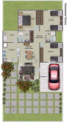 Model House Plan, House Layout Plans, Dream House Plans, House Layouts, House Floor Plans, 4 Bedroom House Designs, Three Bedroom House Plan, Home Room Design, Home Building Design