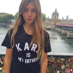 """Pin for Later: 25 Things to Know About Thylane Blondeau Before She Earns It Model Status And Has the """"Karl Is My Father"""" Tee All the It Girls Love"""