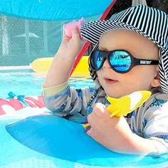 Polarized Babiators | Black Ops Black Polarized Babiators with Blue Lenses | Babiators®