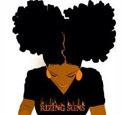 Rizing Suns Black Love Art, Black Girl Art, Black Girl Magic, Black Girls, Art Girl, Natural Hair Art, Pelo Natural, Natural Hair Styles, Style Afro