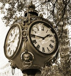 Time keeps on ticking ... Vintage clock in downtown Columbia.   ..rh