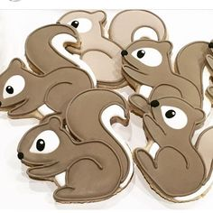 Loving how cute these cookies by @bakewell_boutique are using our Chubby Squirrel cutter!!