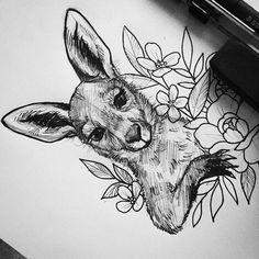 Baby kangaroo sketch  #kangaroo #babykangaroo #sketch #ink #drawing #tattooart…