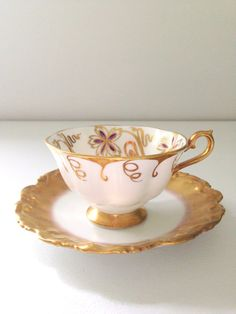 Vintage Limoges France and Royal Albert Tea Cup by MariasFarmhouse, $75.00