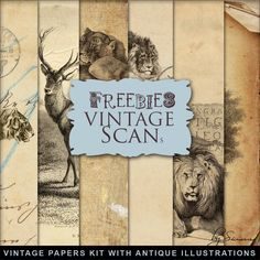 Far Far Hill: New Freebies Kit of Paper with Antique Illustrations