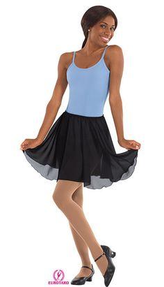 Adult Pull-On Skirt-, XS, S, M, L, XL, Black