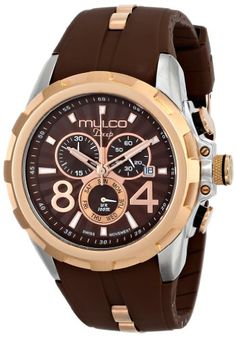 Men's Wrist Watches - MULCO Unisex MW129382033 Analog Display Swiss Quartz Brown Watch * Details can be found by clicking on the image.