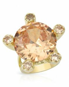 Cubic Zirconia Ring  By Designer P&P Silver 70.90 ctw