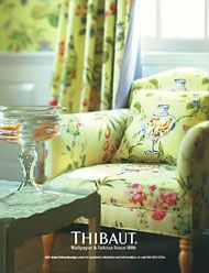 Love this wallpaper and fabric by Thibaut.com