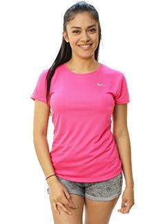 f5b34357 NIKE Dri-FIT Challenger Short Sleeve T-Shirt at Amazon Women's Clothing  store: