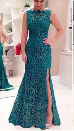 Long Prom Dress, Lace Prom Dress, Teal Prom Dress, Prom Dress, Custom Prom Dress on Luulla Teal Prom Dresses, Backless Prom Dresses, Mermaid Evening Dresses, Formal Evening Dresses, Sexy Dresses, Dress Prom, Party Dresses, Formal Prom, Long Lace Skirt