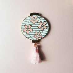 Sakura Lantern Pin - White or Black Bag Pins, Jacket Pins, Cool Pins, Metal Pins, Pin And Patches, Pin Badges, Lapel Pins, Pin Collection, Stickers