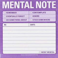 Knock Knock Mental Note Sticky Notes, To Do List Notepads, 3 x each Planner Pages, Planner Stickers, Knock Knock Notes, Bujo, Funny Note, Household Binder, Coping Skills, Twisted Humor, Sticky Notes