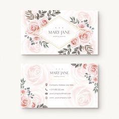 Bakery Business Cards, Salon Business Cards, Black Rose Flower, Visiting Card Design, Name Card Design, Logo Design Tutorial, Wedding Card Templates, Floral Flowers, Business Card Design
