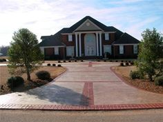 Entrance, Driveway  Concrete Driveways  Best Stamped Concrete Inc.  Huntsville, AL
