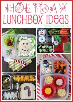 Come see how easy it is to add some holiday flare into your school lunchboxes.These Holiday Lunchbox Ideas are a cinch to make and are even more fun to eat!