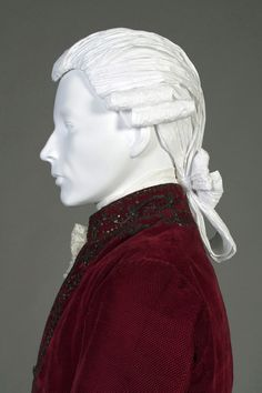 18th century style man's paper wig. Made for Kent State University Museum's Timeline exhibit.