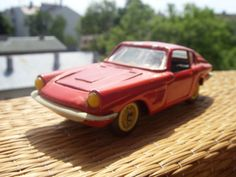 Red Maserati Mistral Coupe Vintage Soviet Car Model Made in USSR in 1975 (14.30 USD) by Astra9