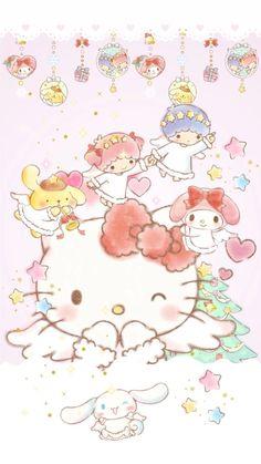 Sanrio Wallpaper, Hello Kitty Wallpaper, Kawaii Wallpaper, Cartoon Wallpaper, Wallpaper Stickers, Hello Kitty Christmas, Hello Kitty Birthday, Hello Kitty Pictures, Kitty Images
