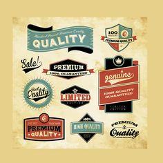 Retro Labels Design Vector - Download Element