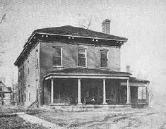 The Edwards' home in Springfield where the Lincolns were married.  MARRIED - In this city on the 4th instant, at the residence of N.W. Edwards, Esq., by Rev. C. Dresser, ABRAHAM LINCOLN, Esq., to Miss MARY TODD, daughter of Robert Todd, Esq., of Lexington, Ky.  Announcement on page 3 of the Sangamo Journal, November 11, 1842 (published on Fridays).