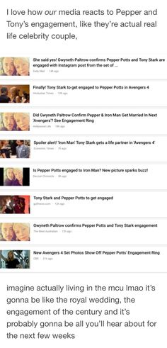 Yah! Pepper's back and Tony and Happy and Rhodey can have some happiness!