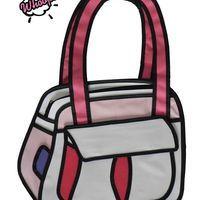 Bolsa 2D Puddin - Pink (ref.BL001A) #whoops2dbags #bolsa2D #bolsa3D #fundesign #cartoonbag