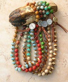 Bohemian knotted bracelet