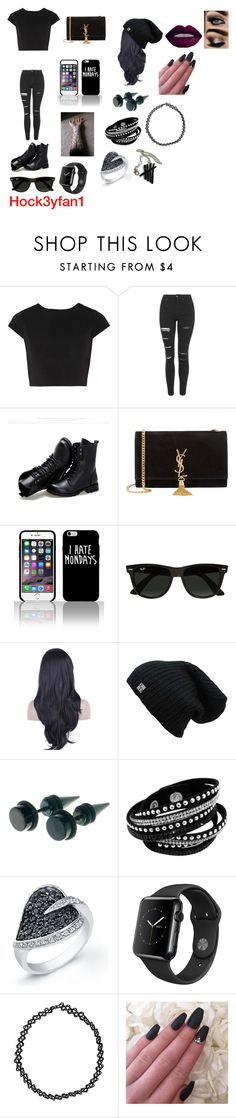 """""""Jenn from chapter 7 of IIDFY"""" by emilylvmuncraft on Polyvore featuring Alice + Olivia, Topshop, Sunsteps, Yves Saint Laurent, Ray-Ban and Boohoo"""