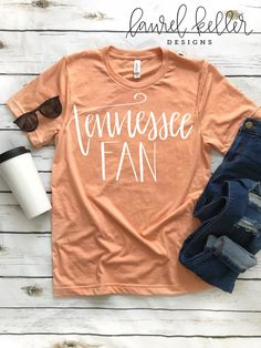 Tennessee Volunteers SVG file, Tennessee Fan SVG, Hand Lettered SVG, Cricut svg, Silhouette svg by LaurelKellerDesigns on Etsy Tennessee Vols Shirts, Tennessee Volunteers Football, Tennessee Football, Football Outfits, Football Shirts, Football Quotes, Silhouette Machine, Silhouette Cameo, Vinyl Shirts