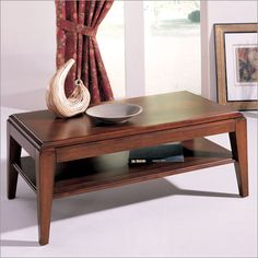 Hammary Exposition Rectangular Lift – Top Coffee Table in Natural Cherry   Coffee Tables