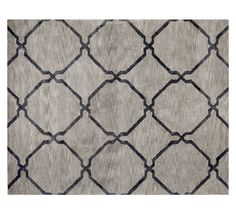 Tonal Tile Tufted Rug - Ebony | Pottery Barn