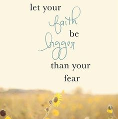 HFC Daily Affirmation - Fear will not rule my life!