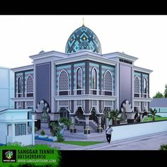 Image may contain: outdoor Mosque Architecture, Futuristic Architecture, Art And Architecture, Metal Building House Plans, School Building Design, Beautiful Places To Travel, Metal Buildings, Place Of Worship, Luxury Interior Design